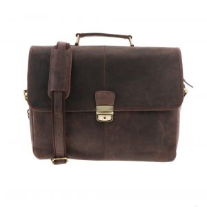 Oxford - dark brown eco leather 15.6 inch laptop bag