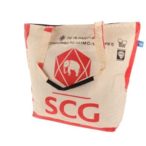 big shopper from recycled cement bags