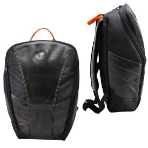 Gustavo - laptop backpack from tyre tube - orange