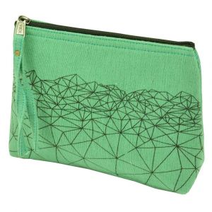 toilettasje klein mint groen - makeup bag