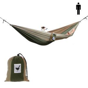 1-persoons hangmat Camouflage: lichtgewicht en sterk