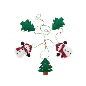 Snowmen and Christmans tree garland