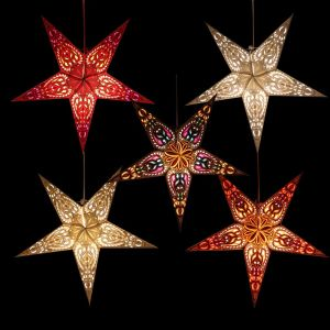 Paper starlight Ø60 cm for X-mas Ganesha - incl. lighting set