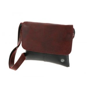 Salsa - festival bag from inner tube and eco leather - red