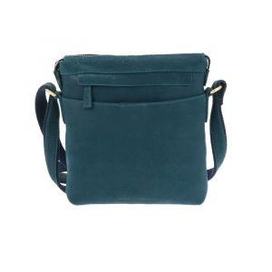 Ladies work bag with sleek design, made from vegetable tanned brown vintage leather