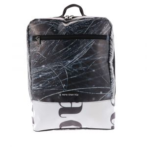 """Spacious 17"""" laptop backpack from recycled billboards - Piotr"""
