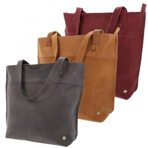 eco leather shopper tote with zipper in many colours - Estilo
