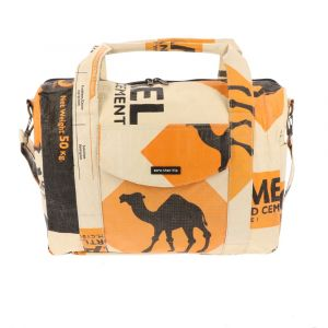 Large messenger bag of recycled cement bags - Gambir