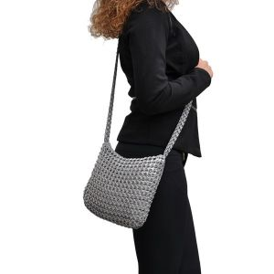 Lucinda shoulderbag from recycled ring pulls
