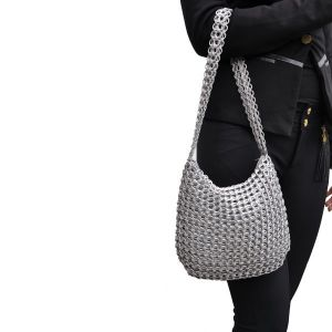 Lucinda handbag from recycled ring pulls