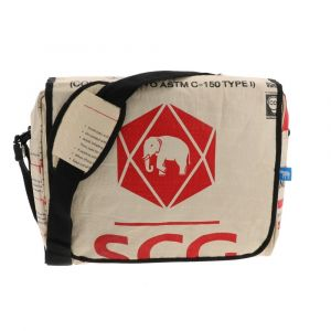Sunay - leightweight messenger bag from recycled cement bags