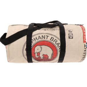 Jumbo M - midsize weekend or sports bag from recycled cement bags