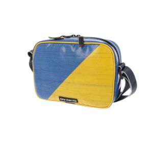 Crossbody bag for women and men from truck tarpaulin - Brussels