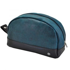 Parador - large toiletry bag from tyre tube and eco leather - blue