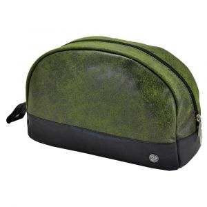 Parador - large toiletry bag from tyre tube and eco leather - green