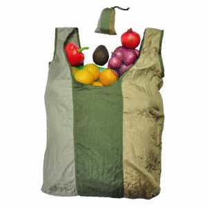 Parashopper Camouflage - foldable shopping bag from parachute silk