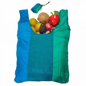 Parashopper Ocean - foldable shopping bag from parachute silk