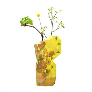 Paper vase cover Pepe heykoop & tiny miracles Sunflowers by Vincent van Gogh