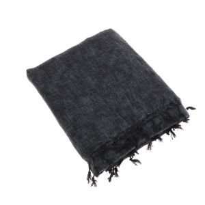 Indra - plaid, throw or blanket from yak wool - anthracite grey