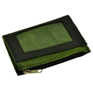 Camino - mini wallet from inner tyres and eco leather - green