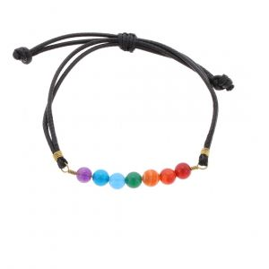 7 Vibes - Cheerful bracelet with crystal beads in the colours of the rainbow