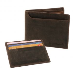 Men's wallet with RFID security for anti skim
