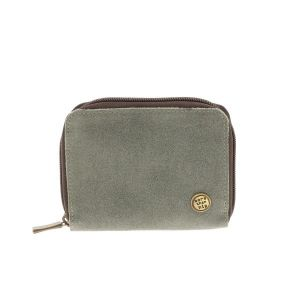 Billy – handy wallet from eco leather with zipper - greyish green