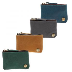 small wallet eco leather blue brown green grey