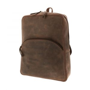 ladies lightweight backpack of dark brown eco leather. Sustainably produced