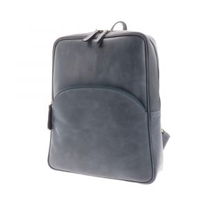 backpack for ladies in greyish blue eco leather