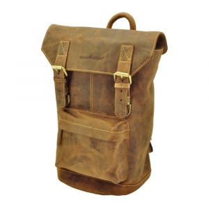Winona - backpack of brown vintage eco leather