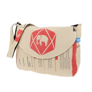 Large ladies' bag made of recycled cement sacks - Jati