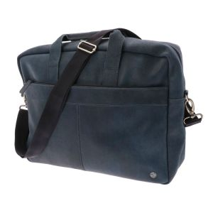 B-choise 15.6 inch ecoleer laptop bag - Santiago blue anthracite