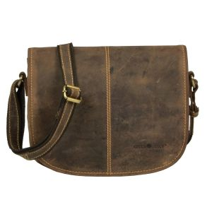 Shoulder bag with many pockets of brown eco leather - Savannah
