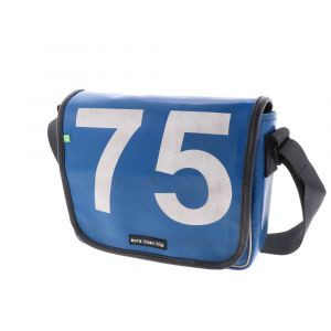 Madrid – strong messenger bag of recycled truck tarpaulin