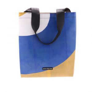 Basic shopper bag from recycled truck tarpaulin
