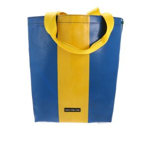 Basic shopper bag from upcycled truck tarpaulin - Barcelona