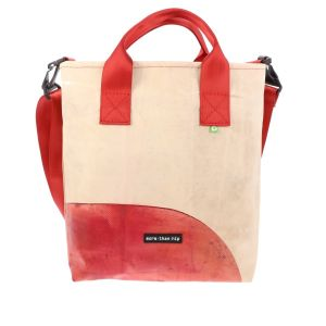 Luxury shopping bag made from recycled truck tarpaulin - Vienna