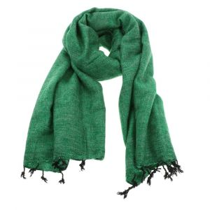 Pina - wide 'yak wool' shawl or wrap - grass green