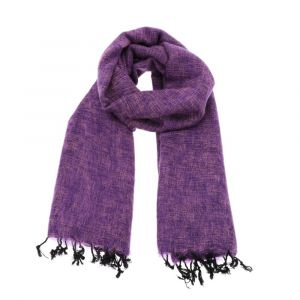 Pina - wide 'yak wool' shawl or wrap - lilac purple