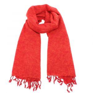 Pina - wide 'yak wool' shawl or wrap - orange