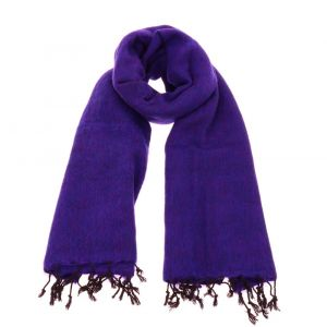 Pina - wide 'yak wool' shawl or wrap - purple