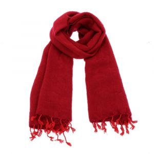 Soft and warm shawl in beautiful red colour