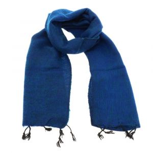 Yaku - scarf from 'yak wool' - royal blue