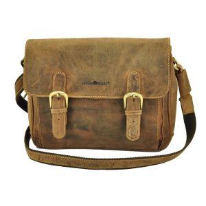Spokane - vintage brown eco leather shoulder bag with flap