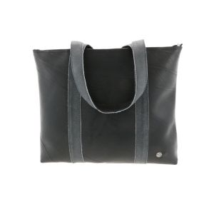 Ramblas – stylish shopper from tyre tube and eco leather - grey