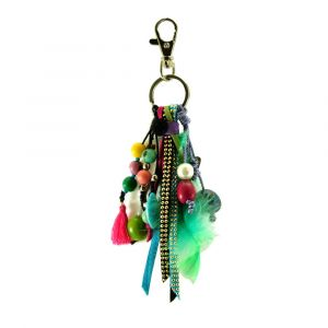 Feliz multi – key or bag charm in multicolour