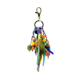 Feliz violeta – key or bag charm in pastel tints