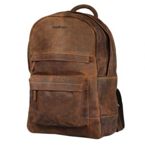 Texas - 15.6 inch laptop backpack of vintage vegetable tanned leather