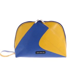 Medium-sized toiletry bag made from recycled truck tarp– Lucca
